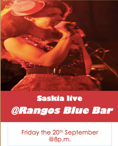 Saskia perform at Rangos Bar September 20th 2013